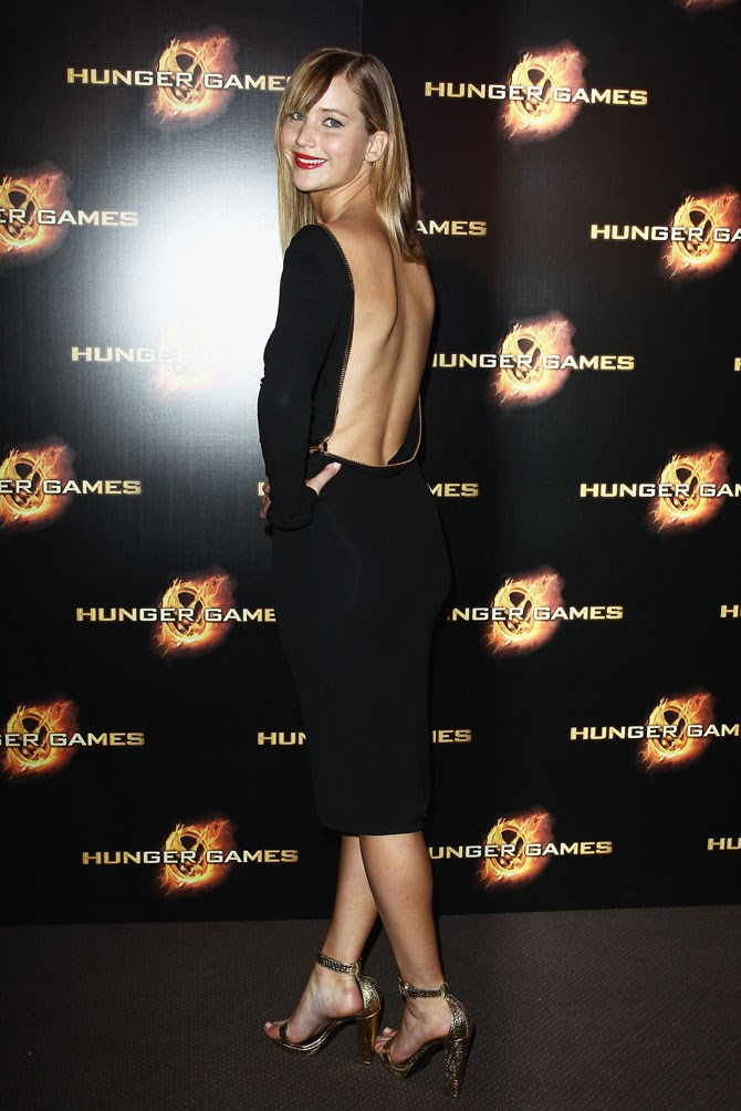 The Paris premiere had JLaw being all kinds of sexy-chic in this black, backless number.