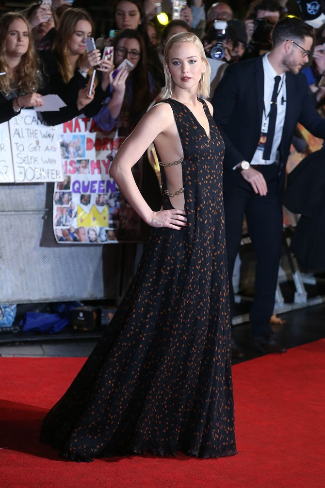 And finally, it was the epic side-boob to end all side-boob at the UK premiere last week. The shapeless, bohemian dress was a welcomed change from her usual structured gowns, proving that this girl can literally get away with anything.