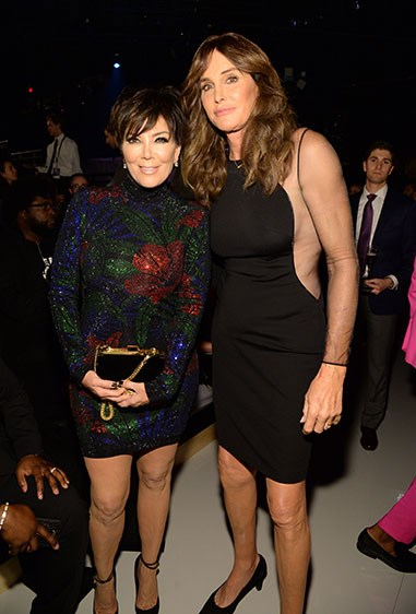 And look! Mum and dad, Kris and Caitlyn, came to support. 1, 2, 3, nawwww.