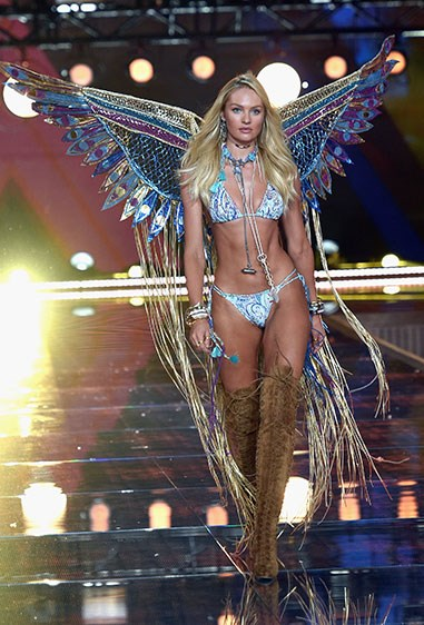 Candice Swanepoel shows us what a bikini body looks like when you're a human butterfly.