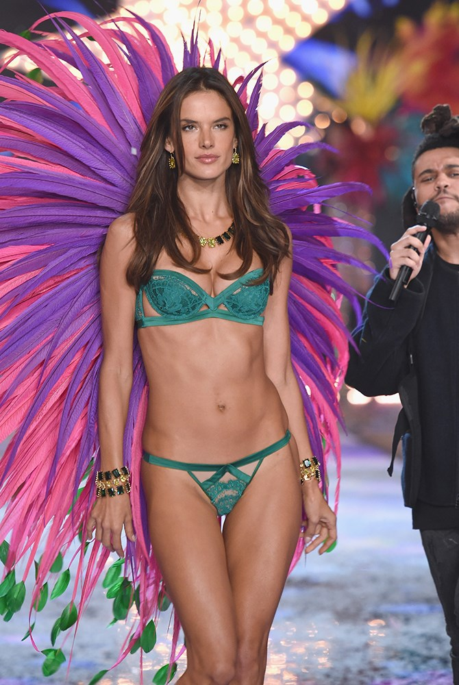 Alessandra is a VISION in green. And pink. And purple. OK, she's just a vision full stop.