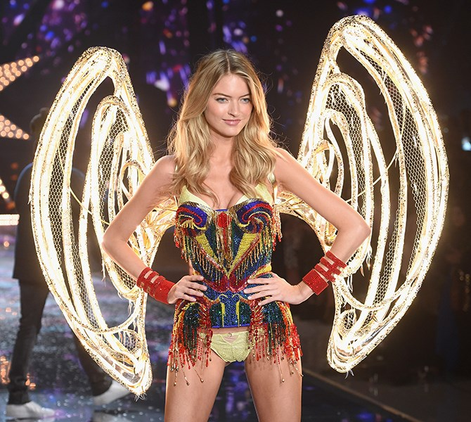 Are you kidding us, Martha Hunt?! It literally doesn't get any better than a beaded corset and wings that light up.
