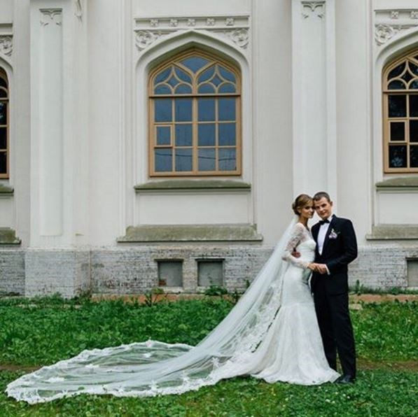 Kate Grigorieva married her husband, Alexander, just this August! They wed in St Petersburg, in her home country, Russia.