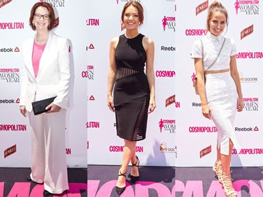 See all of the red carpet looks from the 2015 Cosmopolitan Women of the Year Awards!