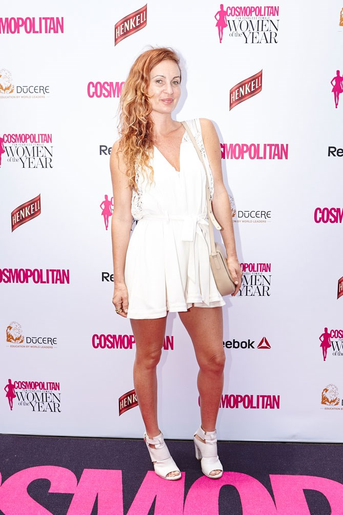 Nominated for Fashion Designer of the Year, Alice McCall nails her iconic style in this adorable white playsuit.