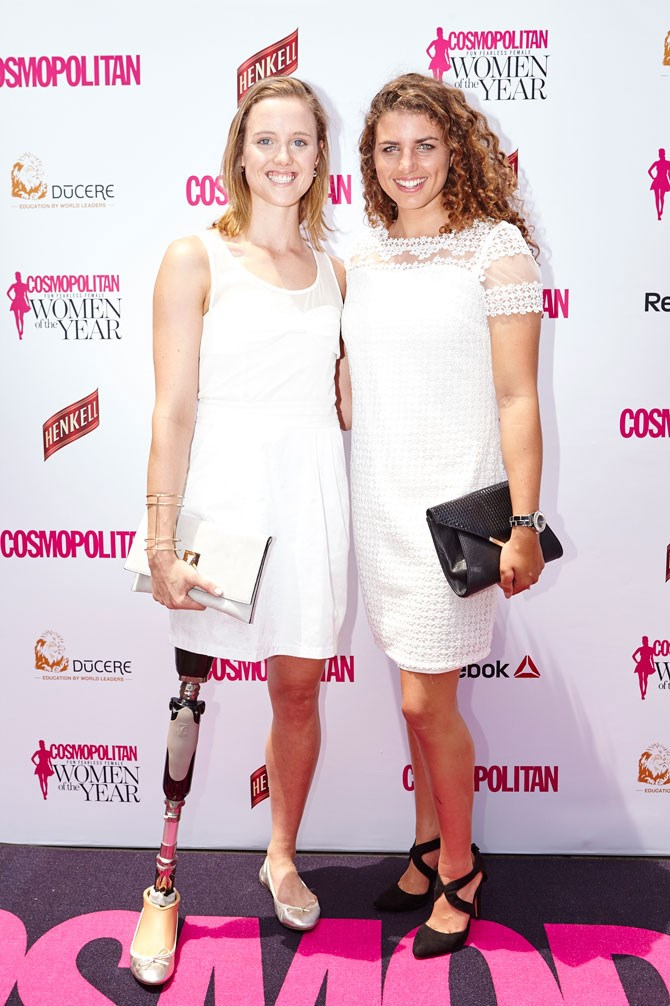 Two of the strongest girls you'll ever meet, Paraolympian swimmer, Ellie Cole and silver medal Olympian, Jessica Fox, also kept things fresh and pretty in white mini dresses