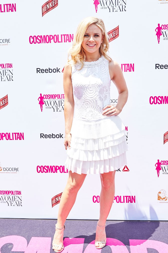 Radio presenter, Emma Freedman, was also feeling all of the white feels. LOVE those layered pleats.