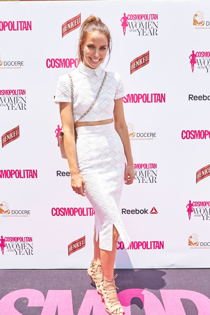 Jodi Anasta looked stunning in this crocheted co-ord.