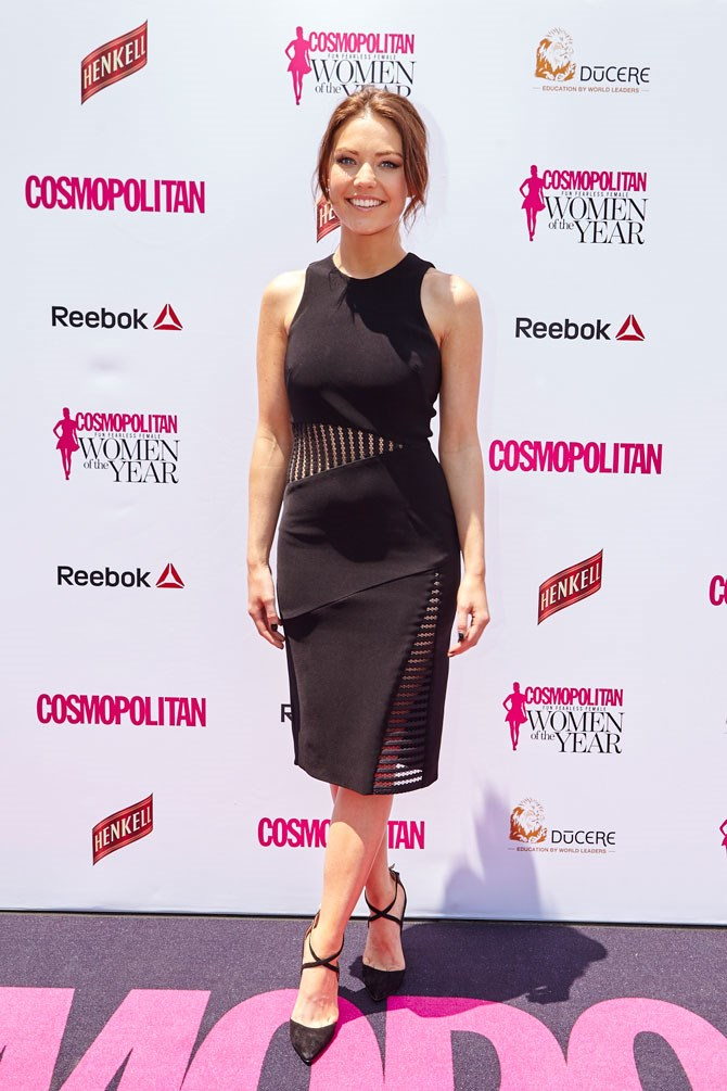 We're loving Sam Frost's mesh cut-out twist on the classic LBD.