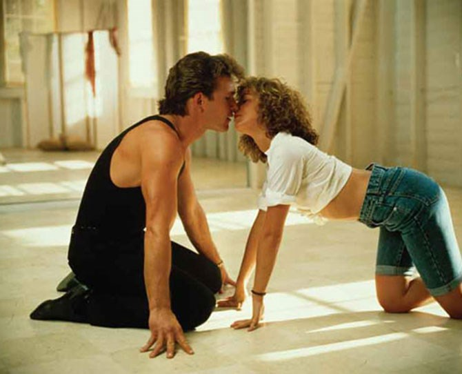 ***Dirty Dancing*** <br><br> Pelvises rocking in unison. Crawling all over the floor to the sounds of *Love is Strange*. That flash of Swayze's bum. Dirty dancing indeed.