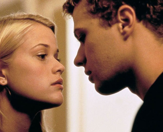 """***Cruel Intentions*** <br><br> Speaking of Reese Witherspoon, who could forget her on-screen """"first time"""" with Ryan Phillippe, who eventually became her real-life husband and father to her two eldest children."""