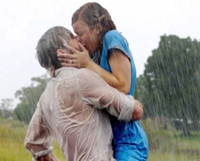 ***The Notebook*** <br><br> At once a tearjerker and a steamy pulse-raiser, Ryan Gosling and Rachel McAdams' post-rain sex is one for the books, from his furtive pantyhose yank to the wall slam heard 'round the world.