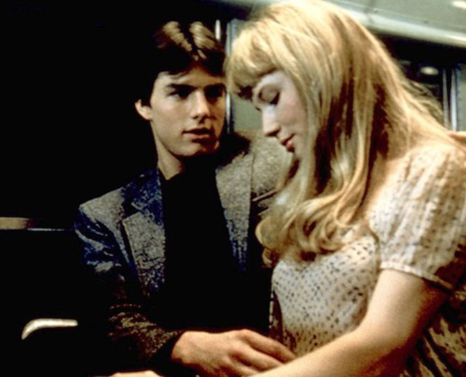 ***Risky Business***  <br><br> Phil Collins' *In the Air Tonight* is playing. There is aggressive thigh caressing. Tom Cruise, not yet a Scientologist, puts his hand up Rebecca DeMornay's skirt. And they're on an empty train the whole time. Trust us, it works.