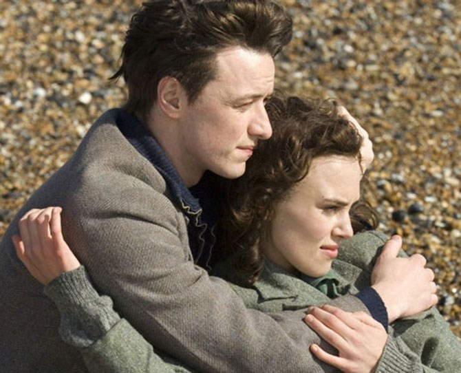 ***Atonement*** <br><br> It's like an X-rated version of Clue: Keira Knightley and James McAvoy in the library. With their clothes off.