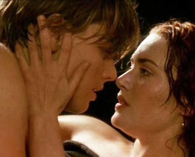 ***Titanic*** <br><br> Sometimes it's the quiet, sensual scenes that have the greatest effect. For example: Jack and Rose's sweaty backseat lovemaking... and that single, telltale handprint.
