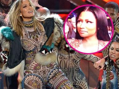 Nicki Minaj responds to claims she shaded Jennifer Lopez at the AMAs