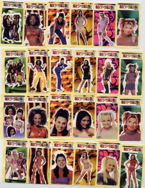 **2. Collectors Cards **  Yes, there were Spice Girls collectors cards, even though there were only, like, 30 possible variations. That's not the point. The point is your commitment OK?