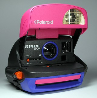 **20. A polaroid camera**    Christmas presents actually didn't get ANY better than this. Ever. And probably still wouldn't. Complete with Spice Girls stickers for all of your camera decorating needs.