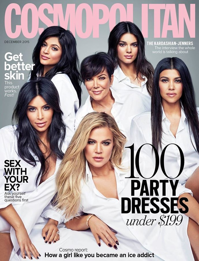 **DECEMBER: The Kardashians** The whole family (ish) united for the cover shot the whole world was talking about.