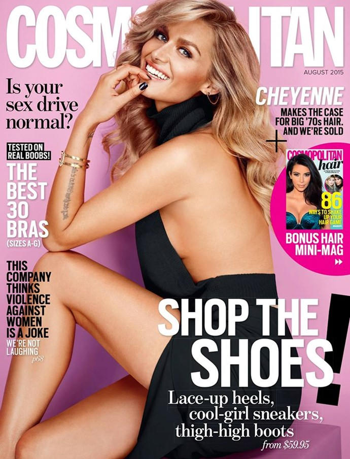 **AUGUST: Cheyenne Tozzi** The Aussie sweetheart looked like she stepped straight out of the '70s and onto our cover. Charlie's Angels glam, much?