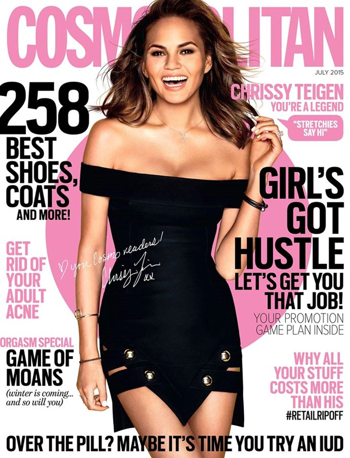 """**JULY: Chrissy Teigen** Here are [just a few of the reasons](http://www.cosmopolitan.com.au/celebrity/celebrity-gossip/2015/5/11-times-chrissy-teigen-was-amazing-on-social-media/