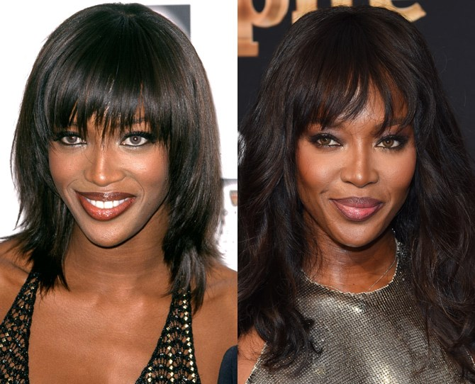 **Naomi Campbell**  <br> 2000 vs. now