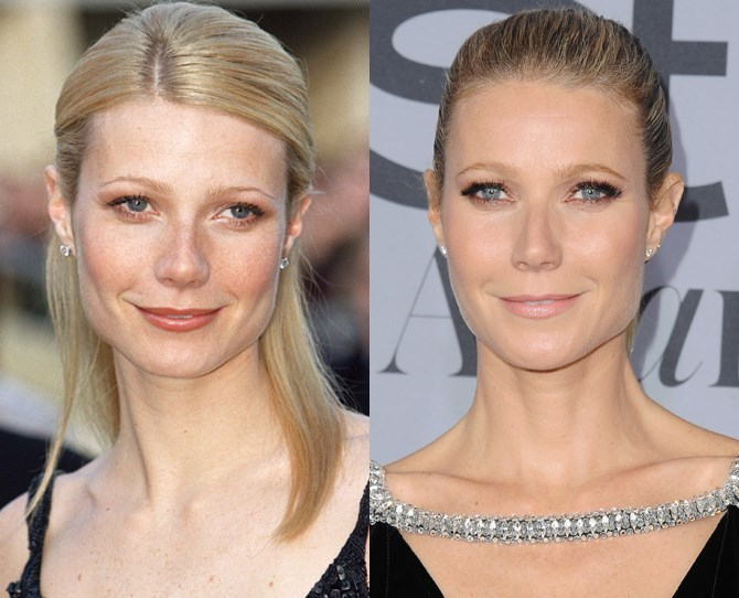 **Gwenyth Paltrow **  <br> 1999 vs. now