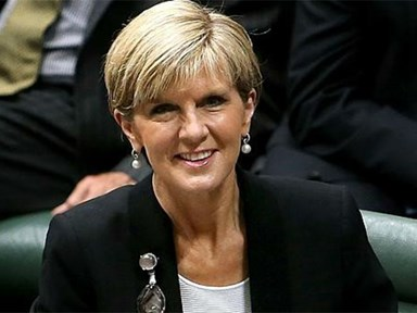 Julie Bishop is crushin' on the Canadian PM