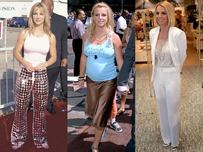 Britney Spears style evolution