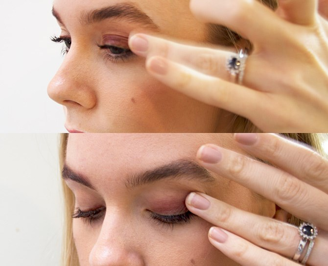 2. Sexy bronzed eyes just got a whole lot easier with a quick swipe of your bullet point across your lids. Then, blend with your ring finger.