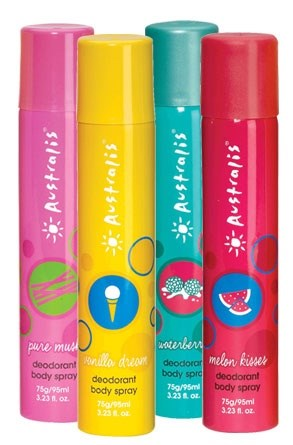 4. Australis body spray