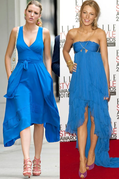 Waterfall blue dress twins