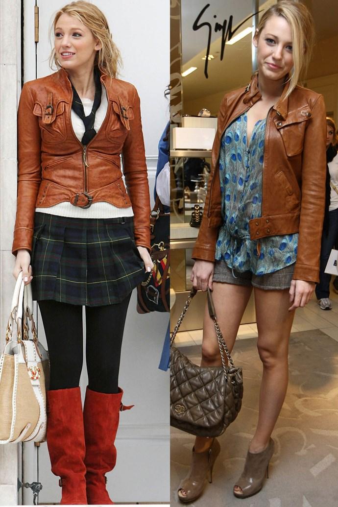 Cognac leather twins