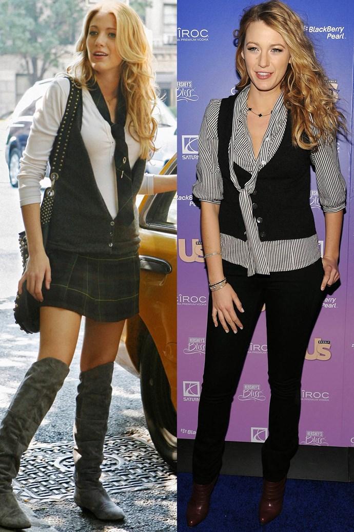 Preppy shirt and vest twins