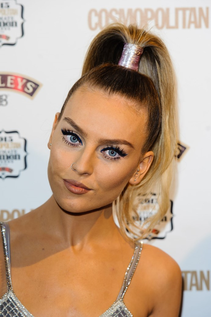 **Perrie Edwards** While Perrie's fave neutral lipstick isn't exactly 'iconic' (she wears the Nizz Cosmetics lipstick in Cashmere Nude), her liner is. Whenever she does her 90s-inspired lip look the MAC lip pencil in Spice is her weapon of choice.