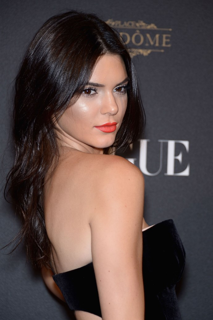 **Kendall Jenner** Kendall's very own lipstick shade for Estee Lauder became an instant hit. The Pure Color Matte Sculpting Lipstick in Restless looks amazing on her - and others.