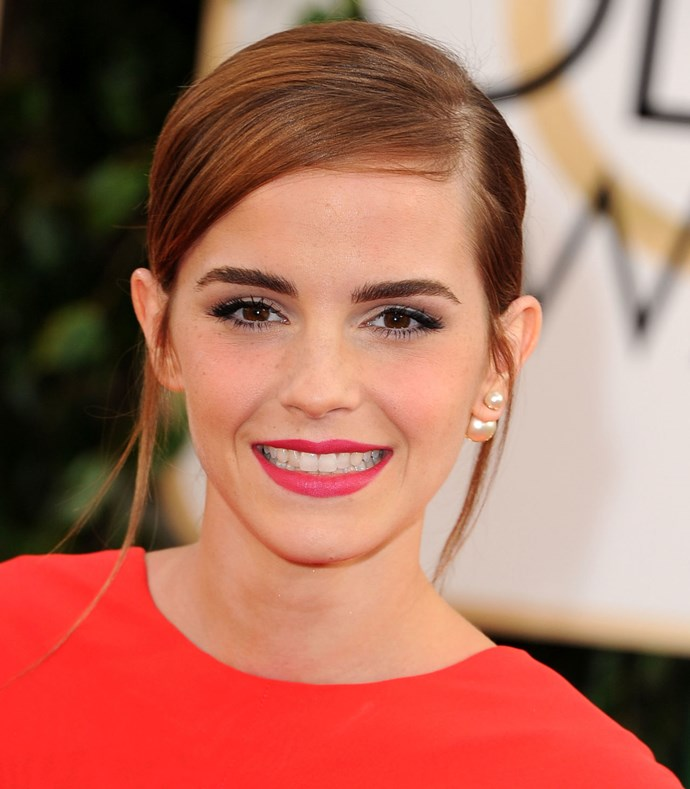 **Emma Watson** You don't get more iconic than Chanel Rouge Allure and Emma's a big fan of the Le Rouge Intense lipstick in #93 Exaltee. This flattering shade is a classic pink.