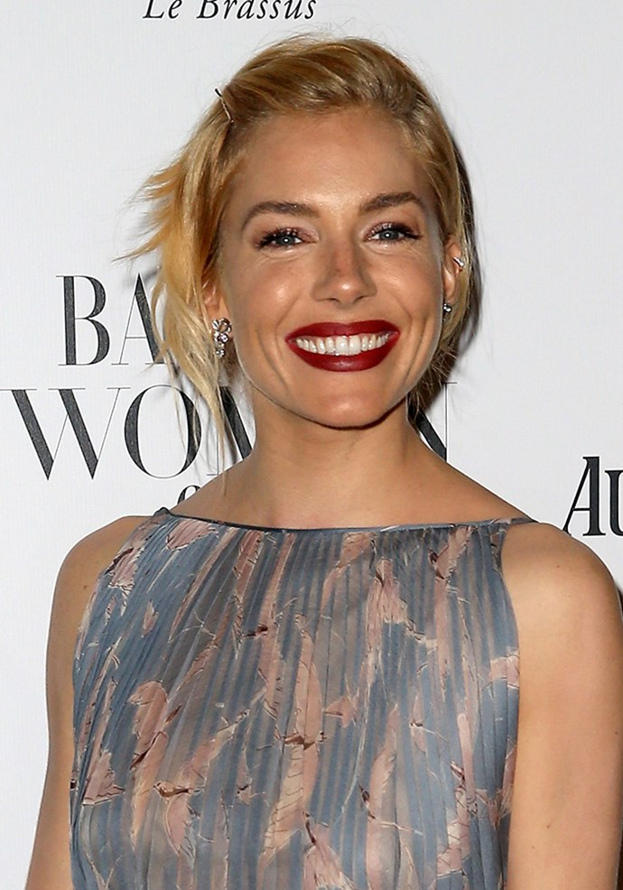 """**Sienna Miller** Sienna's gal pal Charlotte Tilbury has named a lipstick after her, but she doesn't limit her look to that shade, oh no. She loves the Matte Revolution lipstick in Love Liberty, which sums up Si's Autumn/Winter beauty look - and is a red carpet classic. [SOURCE: Cosmopolitan UK](http://www.cosmopolitan.co.uk/beauty-hair/makeup/a40065/iconic-lipsticks-celebs-wear/