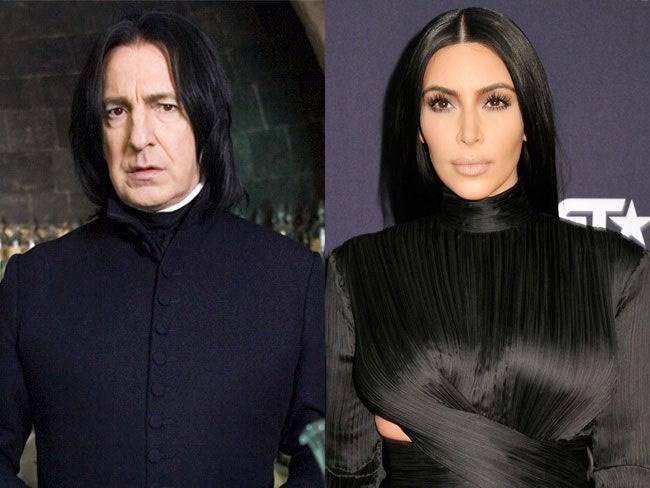 Kim Kardashian as Harry Potter