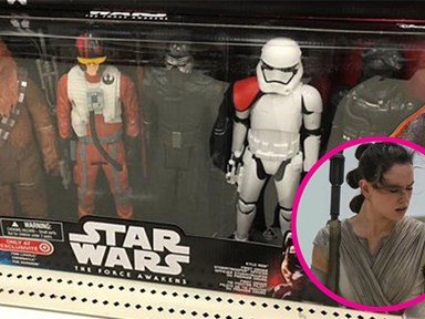 Funny how the Star Wars action figure pack is missing the main (female) character
