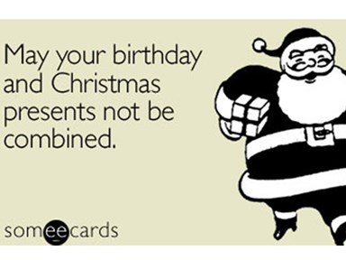 17 struggles of having a birthday on Christmas Eve