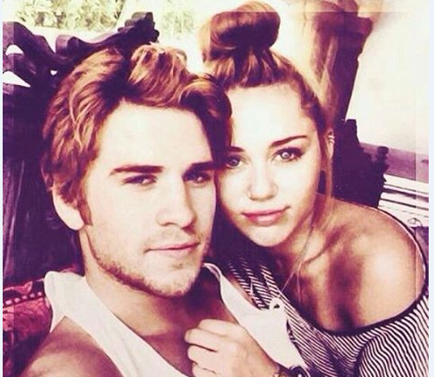 One of their first ~selfies~ together as a couple.