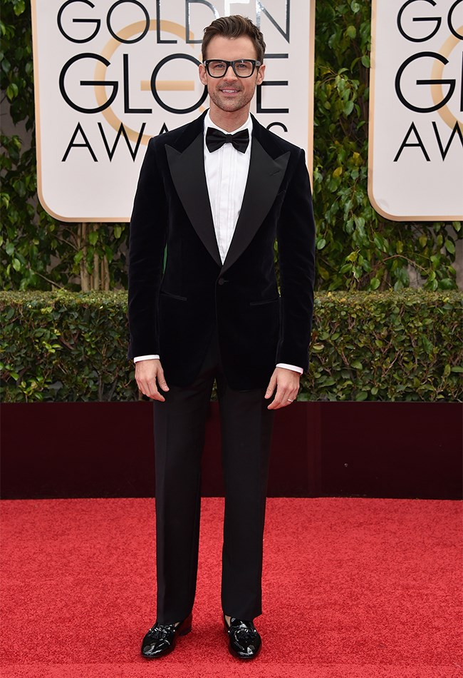 Brad Goreski couldn't look any more dapper if he tried! That velvet coat and patent loafers combo is a winner.