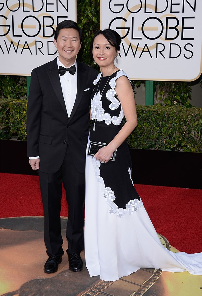Funny man, Ken Jeong and his wife Tran are making monochrome magic happen together.