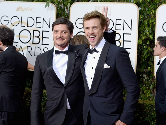 *Narcos* actors, Pedro Pascal and Boyd Holbrook, scrub up pretty well!