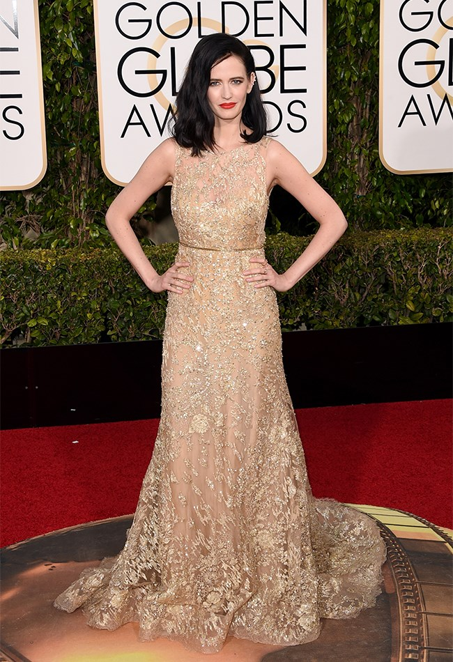 Eva Green shows how anyone can shine bright, even when you're wearing nude, but especially when wearing Elie Saab.