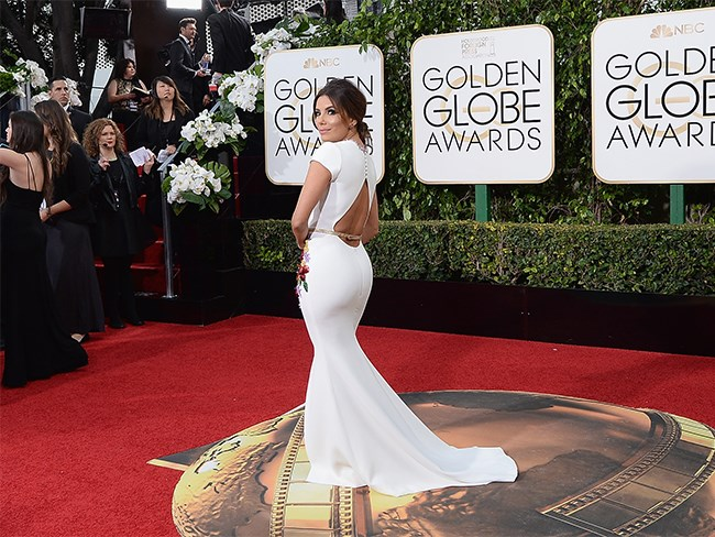 We don't know what we love more – the front of Eva Longoria's dress or the back! #DatBootyTho.