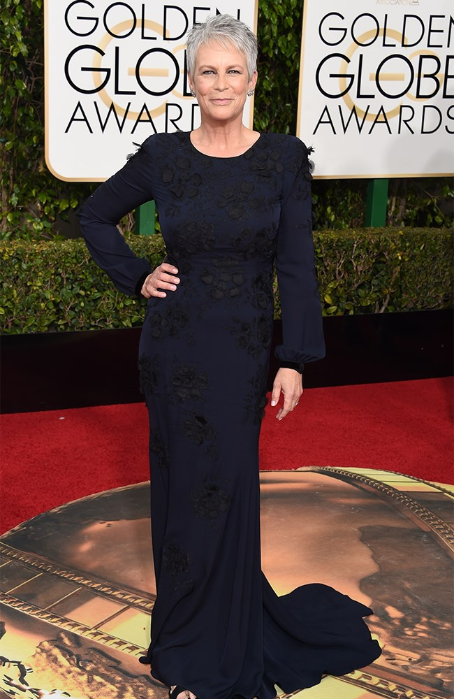 Jamie Lee Curtis wore navy. Lots and lots of navy.