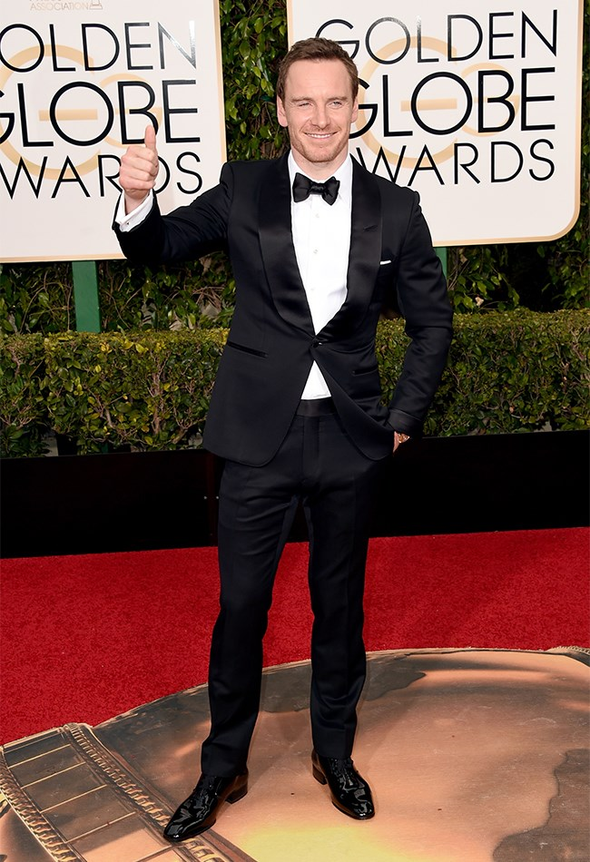 We give Michael Fassbender a big thumbs up as well.
