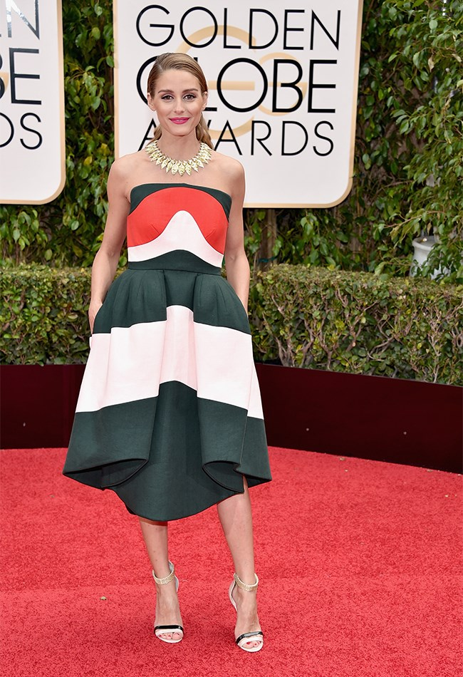 We're not quite sure why Olivia Palermo is at the Golden Globes, but we do know we like what we see.